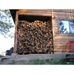 Move your winter firewood supply at least 30-feet away from structures during fire season.