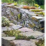 Rock walls as hardscape.