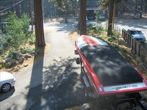Cover boats and other recreation equipment so sparks cannot land in them and start a fire.