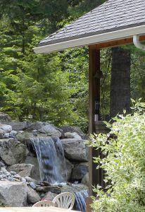 Many landscape features, including ponds and waterfalls, can serve as emergency water sources.