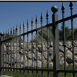 Use non-flammable fencing materials, such as wrought iron.