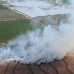 Burning crop residue is a common Idaho agricultural practice.